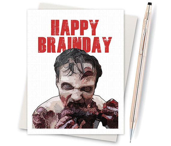 Boyfriend Card Funny Birthday Card Zombie Card By: The Walking Dead Adult Birthday Birthday By