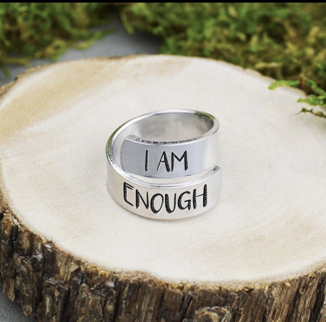 Never Forget That You Are Enough In 2020 Cute Jewelry Wrap Rings I Am Enough