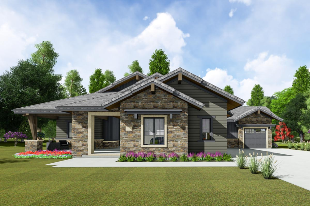 Plan 64492sc Contemporary Craftsman Home Plan With Optional Lower Level Craftsman House Craftsman House Plans House Plans