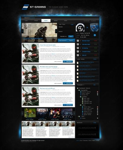 webSPELL] ST Gaming CLANDesign - Templates - ClanDesigns ...