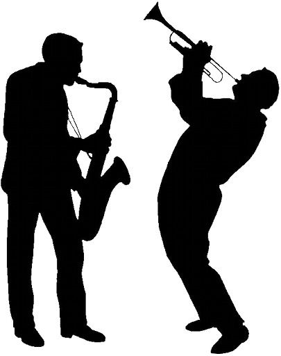 gallery for jazz musician silhouette cutouts jazz pinterest