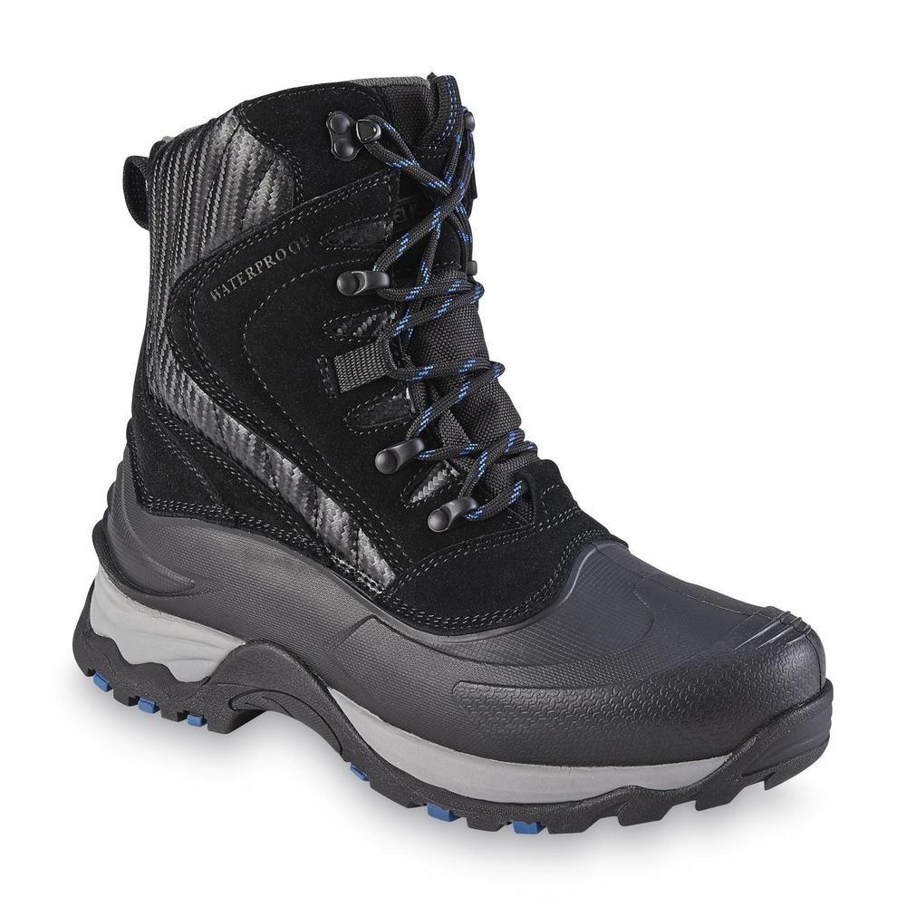 9835d849665 Elk Woods Winter Boot Yukon Black multi Leather manmade Men's size 8 ...