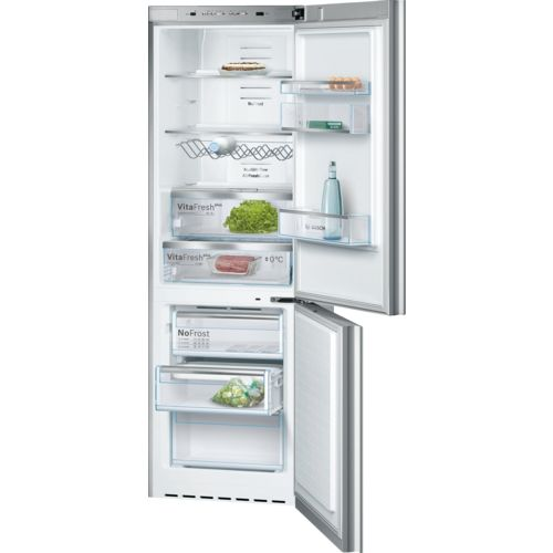 Bosch B10cb80nvs Free Standing Fridge Freezer With Freezer At Bottom Glass Door Bottom Freezer Bottom Freezer Refrigerator Door Storage