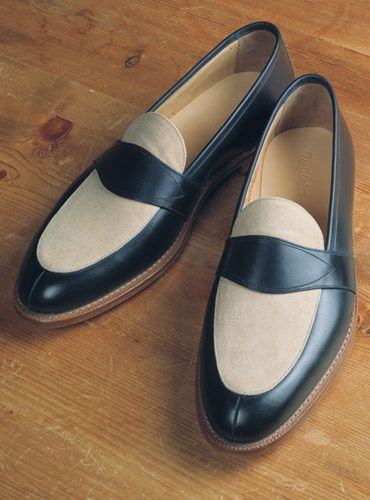 LinenAhmedChaussure and Loafer Navy The Charleston in qc4AR5j3L