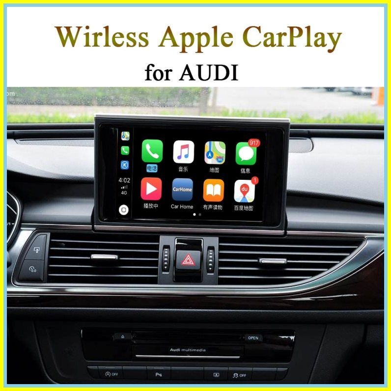 Cheap New Car Wireless Carplay Video Interface For Audi 3g Mmi Mib System A3 Q3 Q5 A6 A4 Q7 Support Apple Carplay Android Auto Carplay Apple Car Play Car Usb