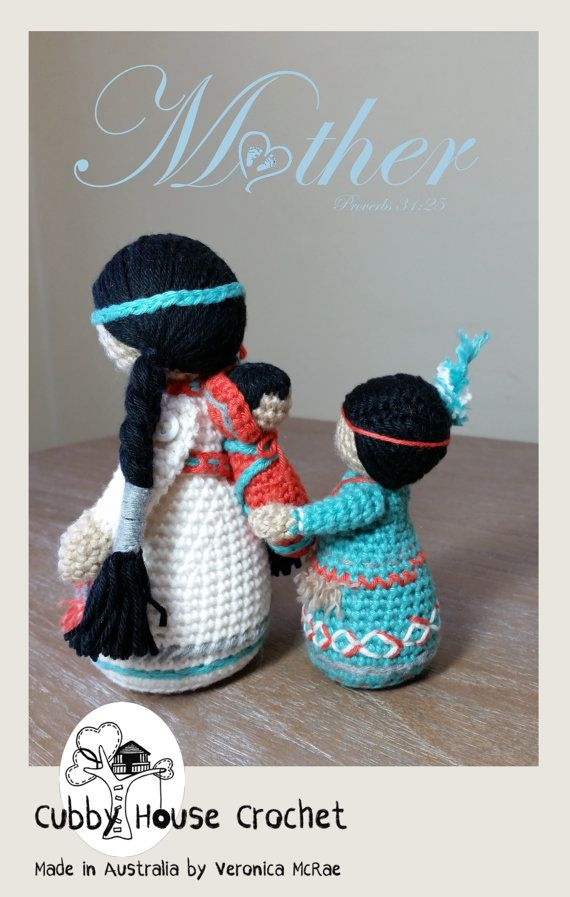 Crochet Pattern Package. Mother NOVA with baby LALLO and child ...