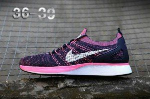 1492c01503a30 Womens Shoes Nike Air Zoom Mariah Flyknit Racer Purple Pink Black White