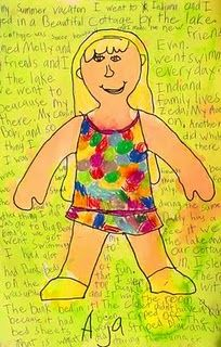 #1st_grade, #self_portrait