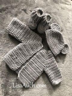 Free Crochet Pattern for a Newborn Baby Cardigan (Easy)