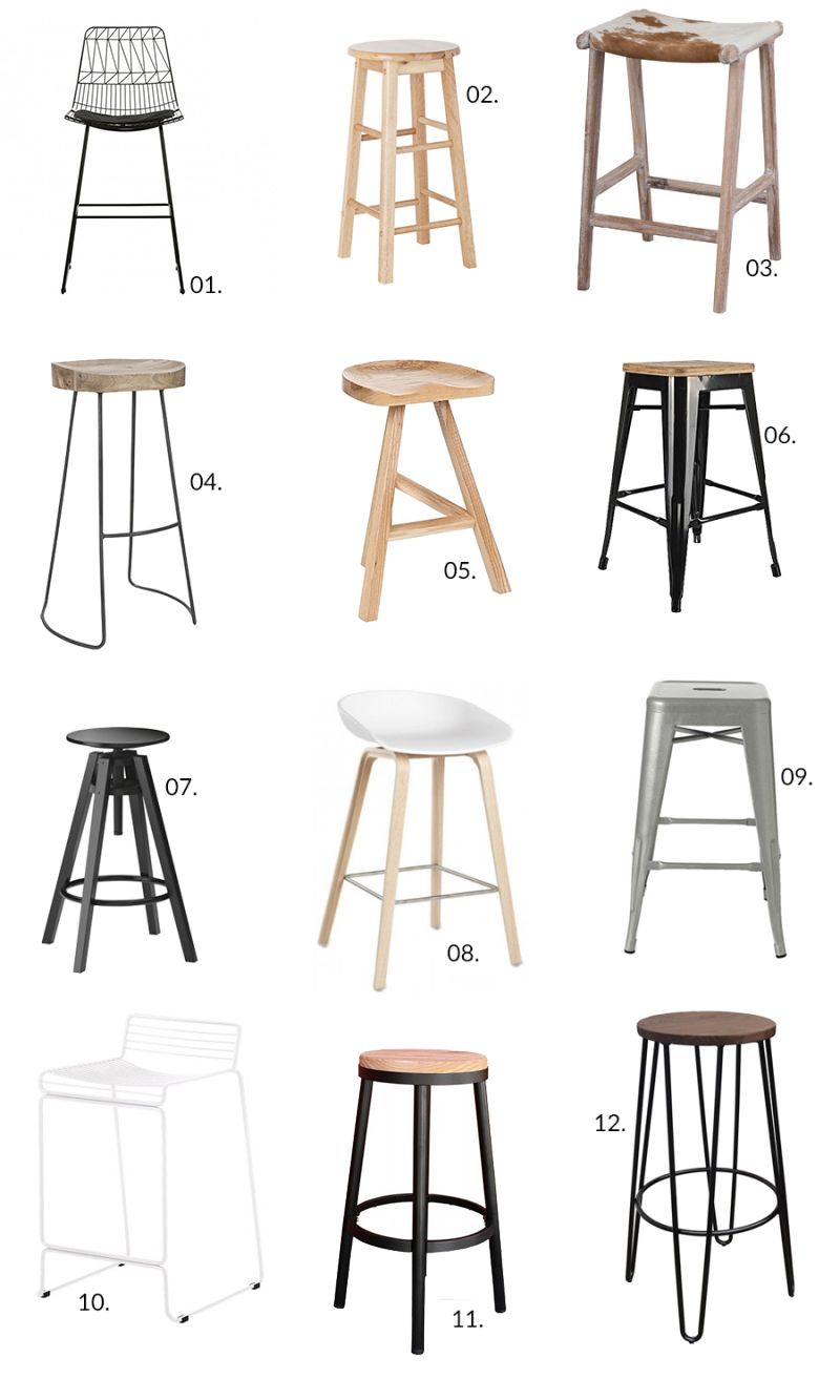 12 Bar Stools Bar Rumah Kursi Bar Desain Furnitur