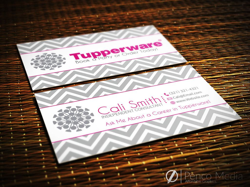 Custom tupperware business card design 1 tupperware for Tupperware business card templates