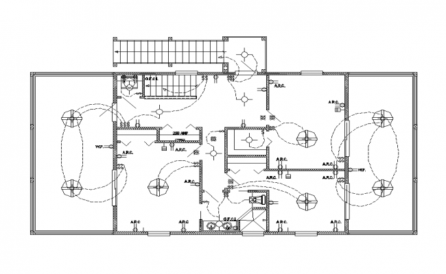 Detail Building Electrical Installation Layout 2d View Layout File Electrical Layout Electrical Installation Family House