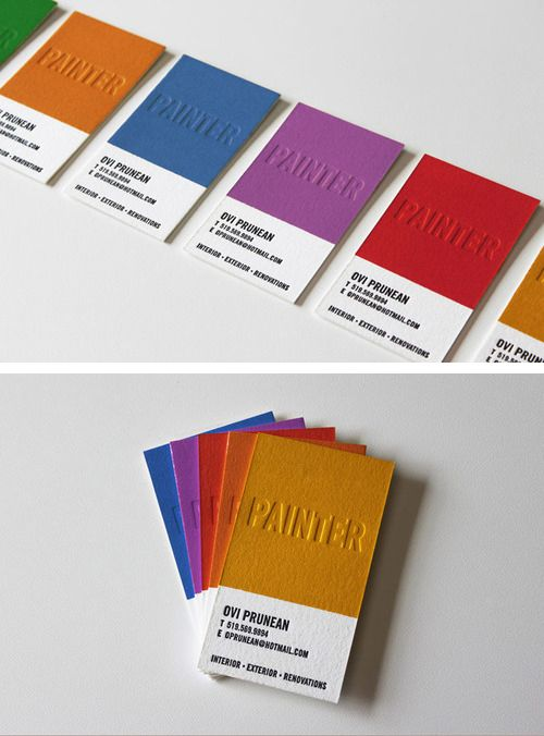 Painters business cards nice design typography pinterest painters business cards junglespirit Gallery