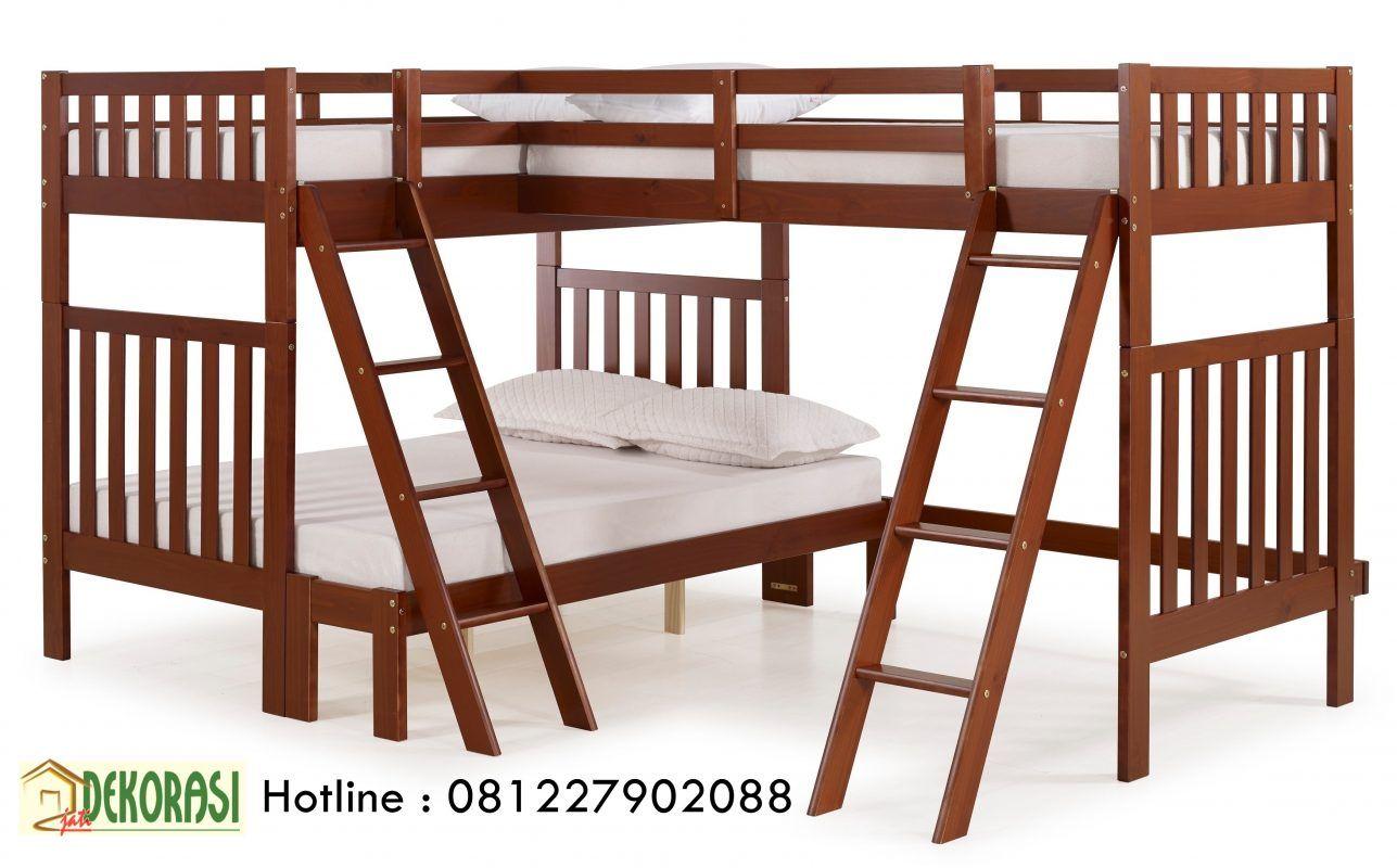 Tempat Tidur Tingkat Anak Simple ( Sudut ) | Dekorasi ...