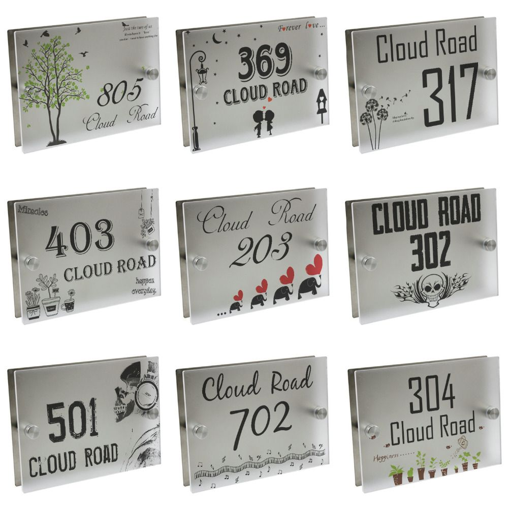 best price personalized modern house number door sign