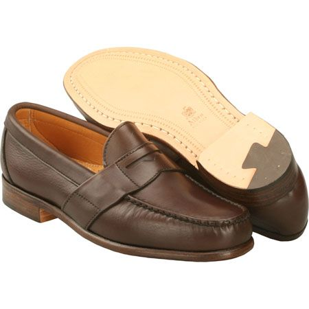 Alden Men's Full Strap #Penny Mocc Calfskin Style #: H496  | #TheShoeMart #Alden #Shoes