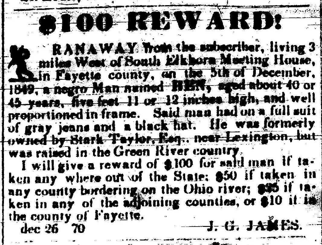 runaway slave advertisements essay Analyzing an eighteenth-century runaway slave ad in most newspapers you'll see ads at the back of an issue, listing items for sale, public announcements, or items.