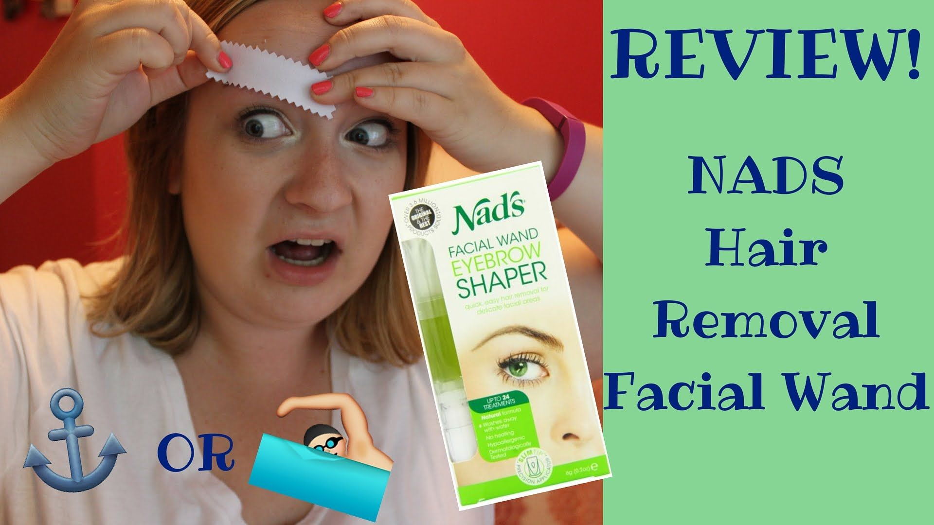 SINK OR SWIM Nads Hair Removal Facial Wand! Nads hair