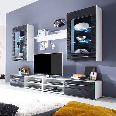 Ebay Angebot Wohnwand 2 Sahara Wohnzimmer Anbauwand In Schwarz Und