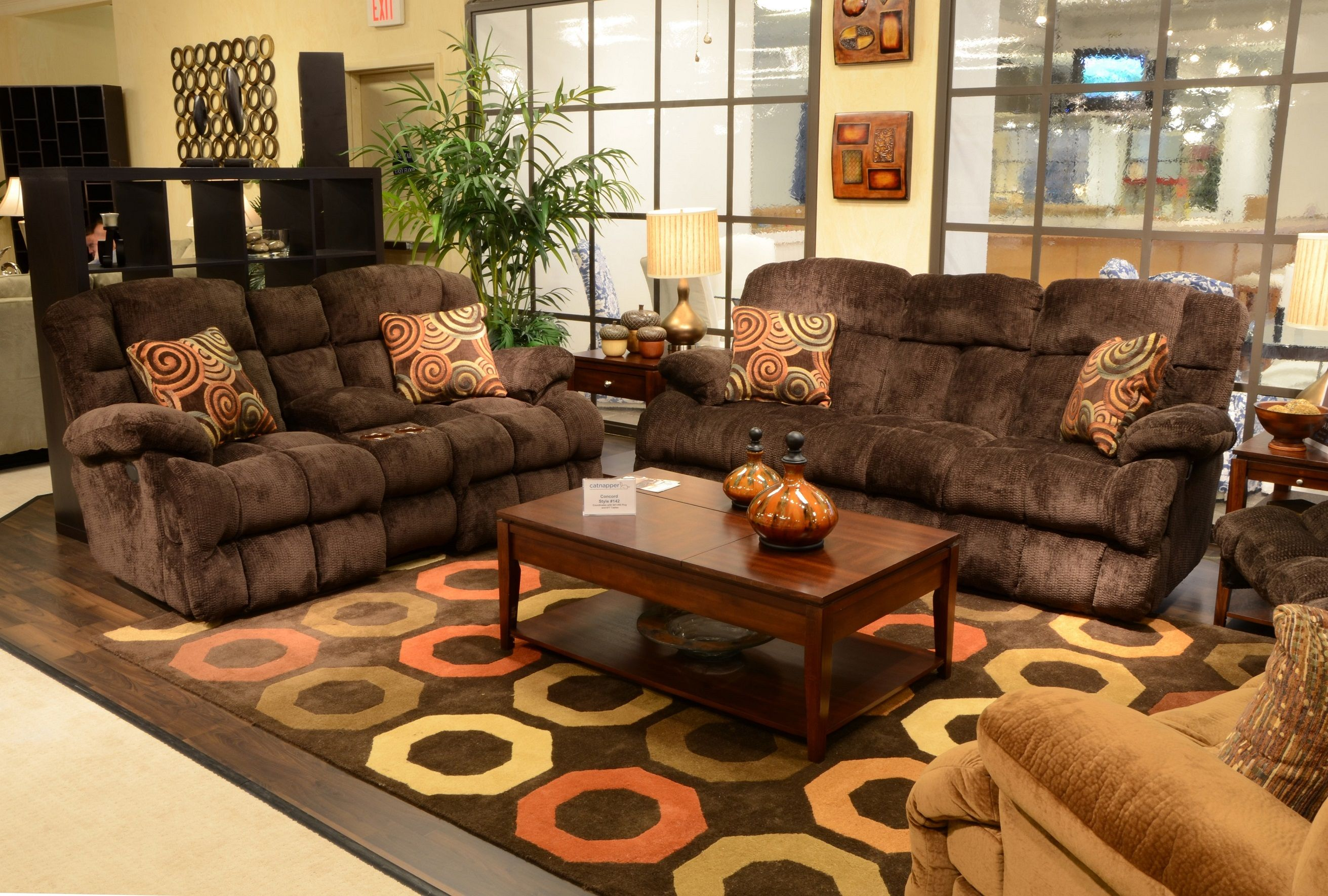 Concord Mahogany Reclining Sofa Collection
