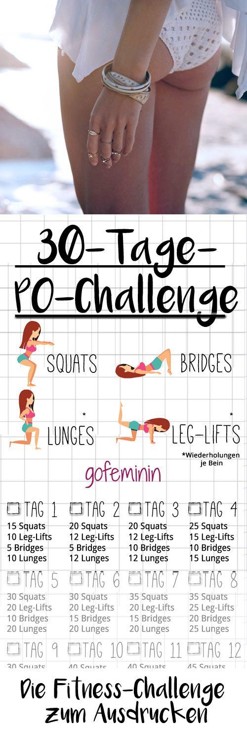 30 Tage Po-Challenge: In einem Monat zu einem knackigeren Po! #quickfitness
