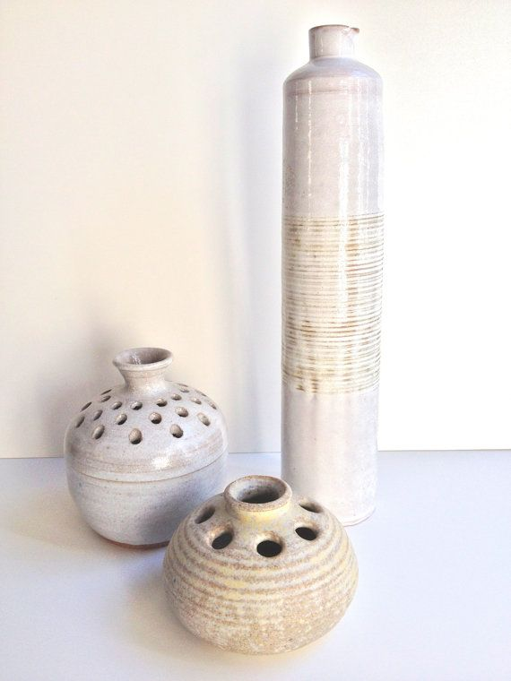 Studio Pottery Trio by WhitehornVintage on Etsy