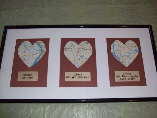 My Own Version Of An Anniversary Gift The Love Map Today Was Our 3rd IdeasWedding