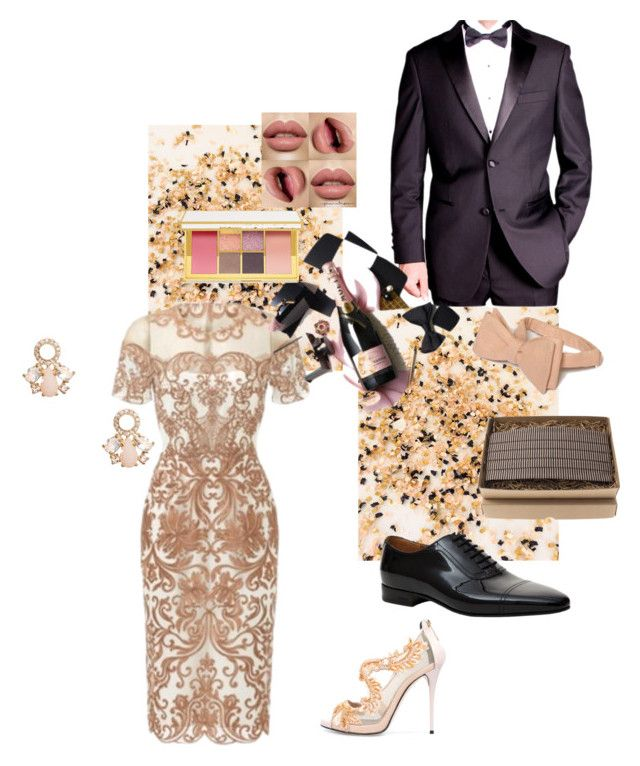 """Blush Black Tie Event"" by vivi33a ❤ liked on Polyvore featuring Oscar de la Renta, Kate Spade and Gucci"