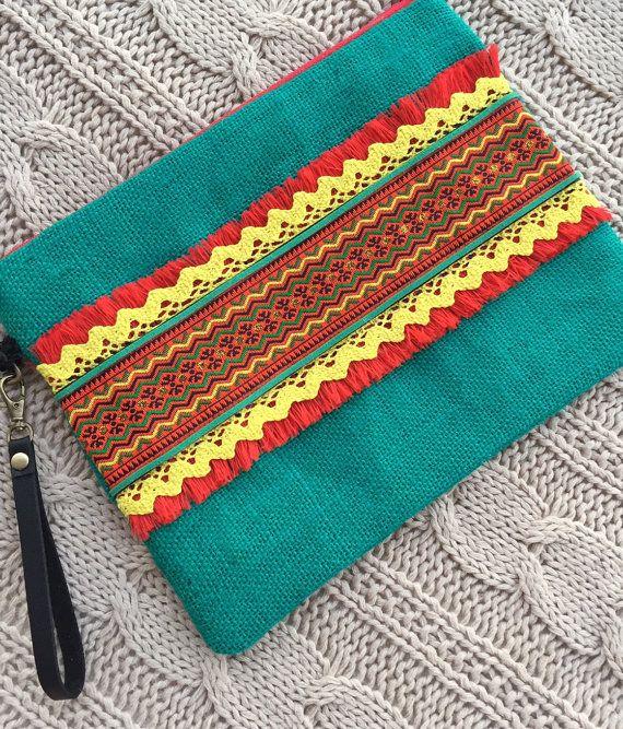 437131002 Bolso de mano clutch boho clutch etnico clutch por PriskaTienda ...