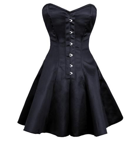 ayana gothic corset dress authentic steel boned black