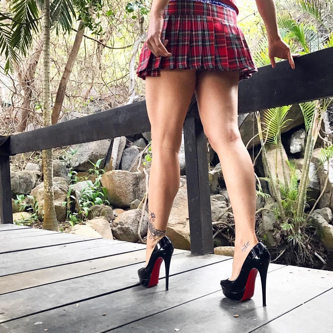 Sexy Legs Mini Skirt Free Stock Photo