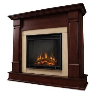 Real Flame Silverton 48 In Electric Fireplace In Dark Mahogany