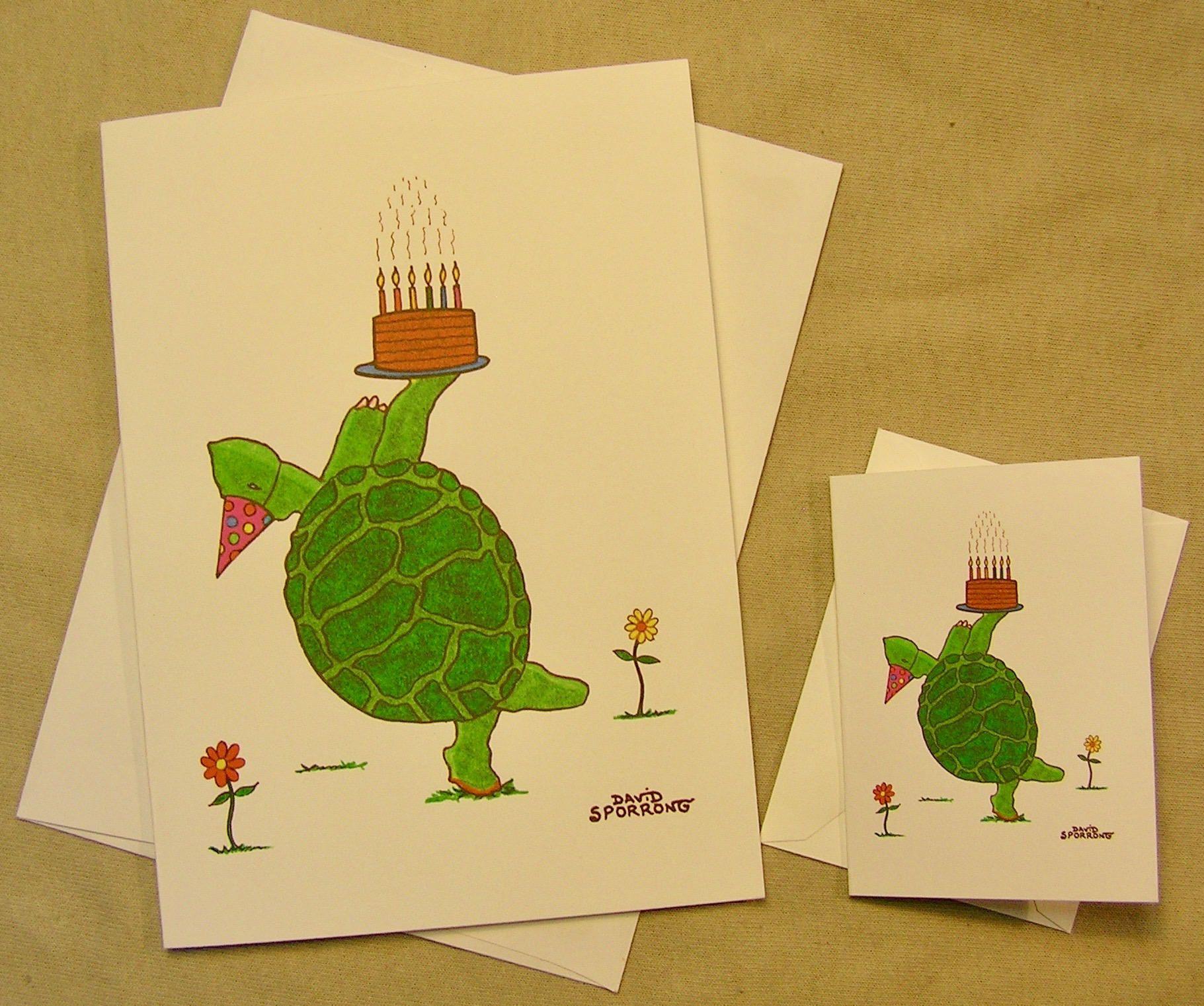 Grateful Dead Birthday Card Dancing Terrapin Regular size card