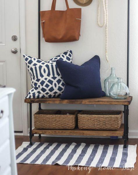 diy furniture west elm knock. DIY Entryway Organizer - Wood And Pipe Stand Diy Furniture West Elm Knock