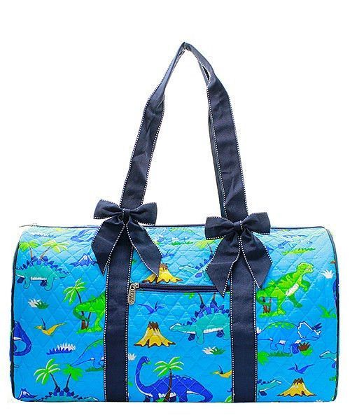 Dinosaur Navy Quilted Duffle Bag Large Weekender  9d1251305a475
