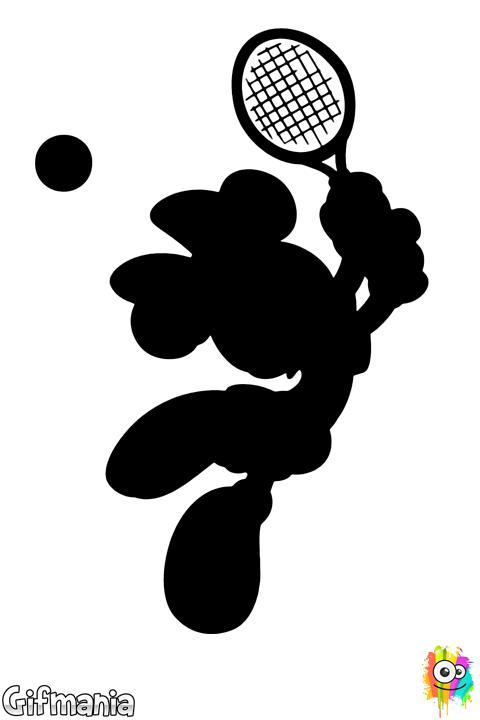 Minnie Mouse jugando al Tenis | Dibujos en blanco y negro ...