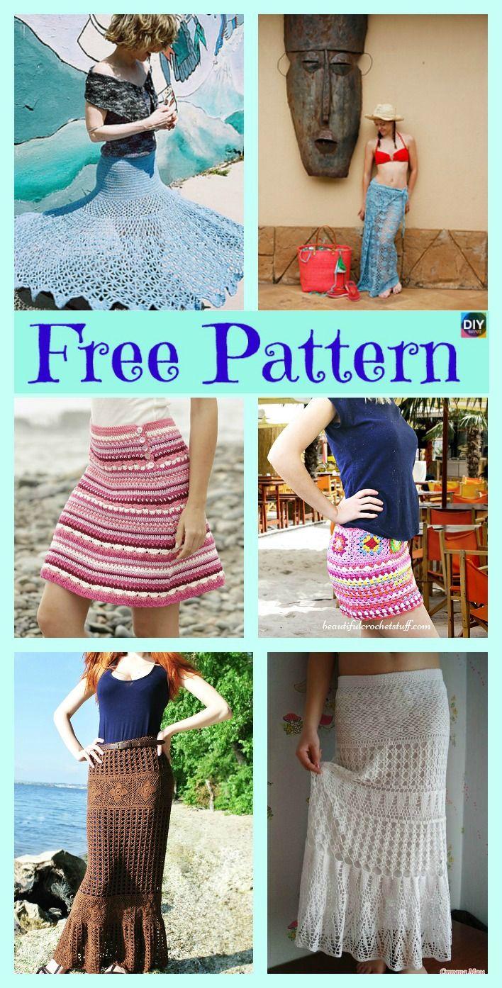 8 Beautiful Crochet Summer Skirt Free Patterns | Häkeln und Stricken