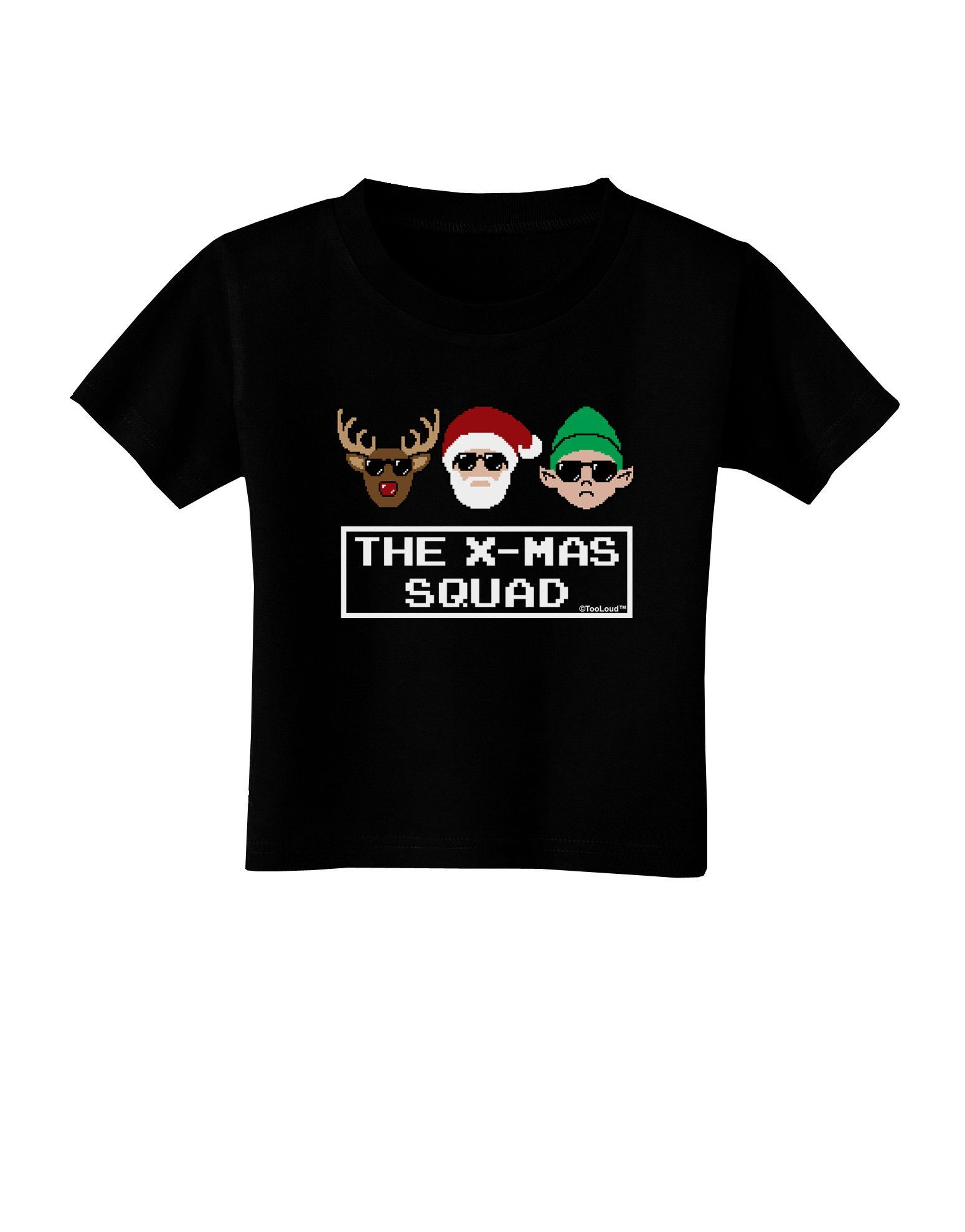 TooLoud The X-mas Squad Text Toddler T-Shirt Dark