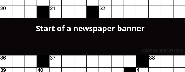 Newspaper Banner Crossword Clue In 2020 Crossword Puzzle Crossword Clue