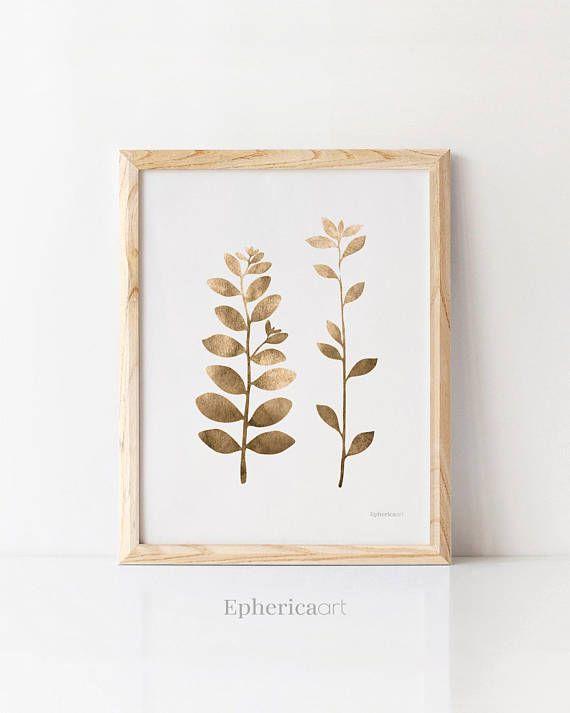 Botanical Art Print Monochrome Art Minimalist Plant Art Simple