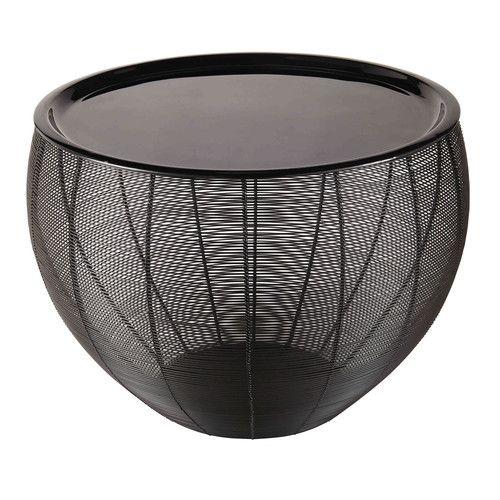 Yassir - Bout de canapé en métal laqué noir | Salon | Pinterest ...