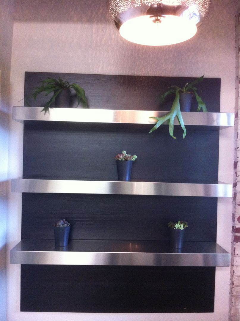 Stainless Floating Shelves Delectable Stainless Steel Floating Shelves  For The Home  Pinterest Design Ideas