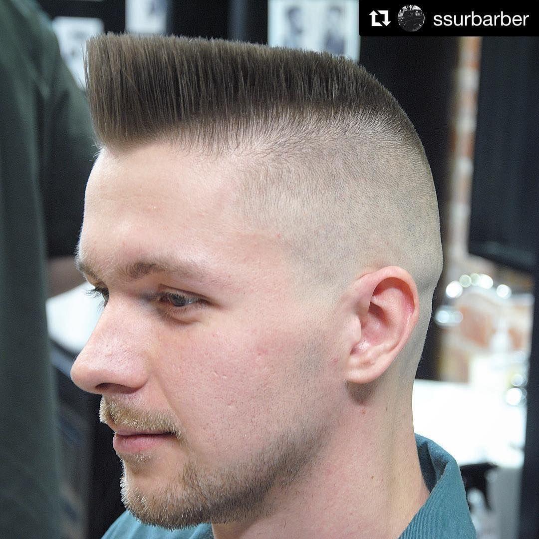 Short top haircut for men repost ssurbarber with repostapp  flattop baldfade