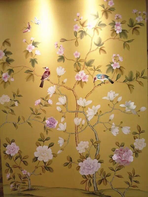 Beautiful #wallpaper #wallcovering #silk #embroidery #art ...