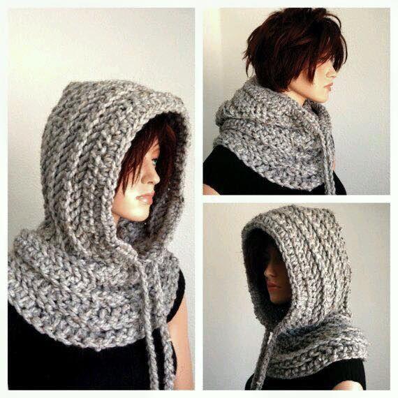 winter hoodie | Cuello con capucha para Bea | Pinterest | Tejido ...