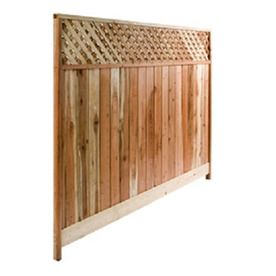 Top Choice Redwood Wood Fence Panel Common 8 Ft X 6 Ft Actual 8 Ft X 6 Ft Fence Panels Privacy Fence Panels Wood Fence