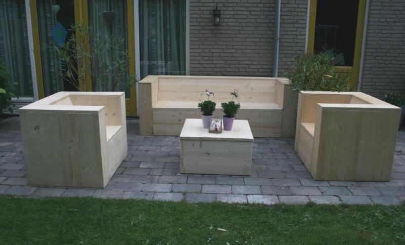Gartenmobel Sitzgruppe Loungeset Bauholz Solide Holland Mobel Bauen Mit Holz Gartenmobel Aussenmobel