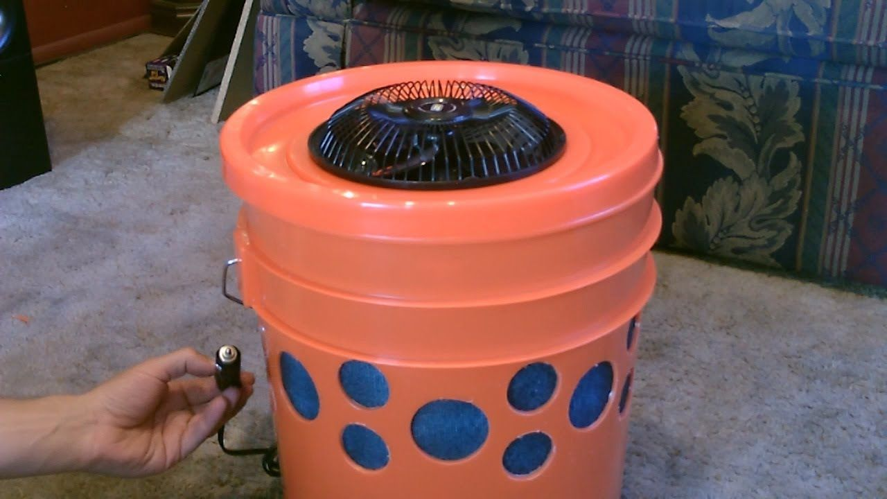 Diy 5 Gallon Bucket Swamp Cooler Water Coolers Homemade