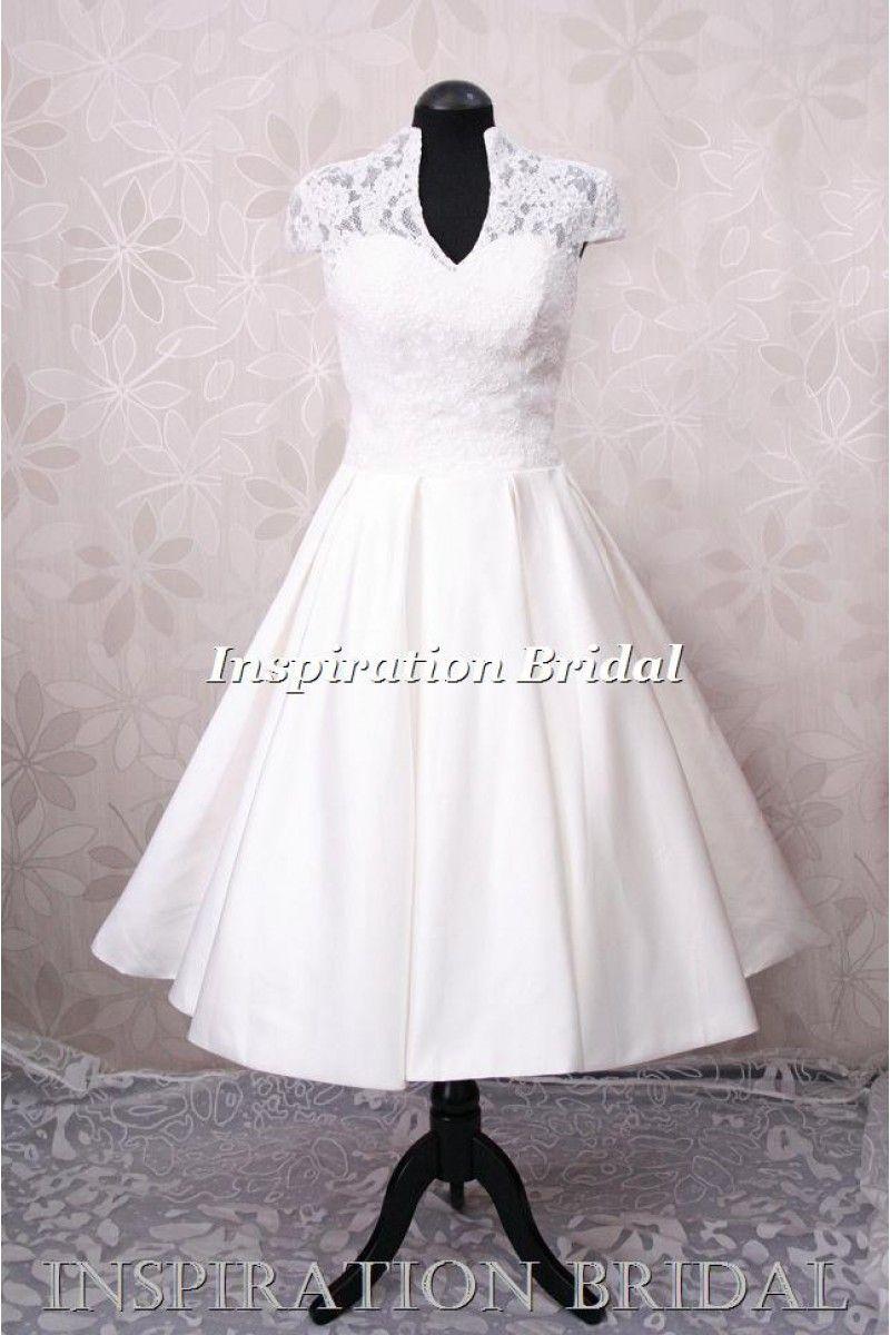 Vintage wedding tea dress  Bridal wear  Weddings  Pinterest  Wedding dresses Wedding and