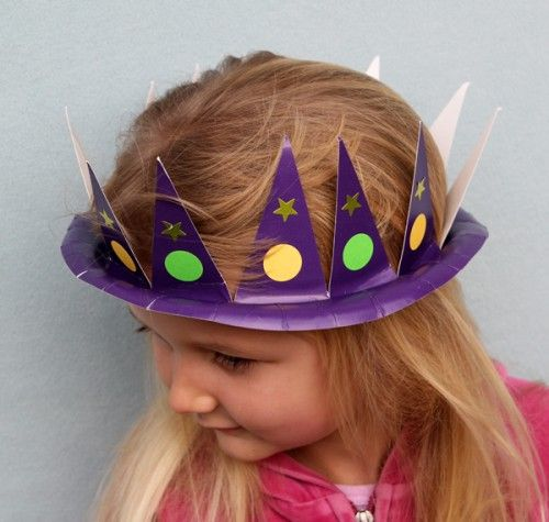 Lots of ideas for hats from paper plates! & Hat Craft from Paper Plates | Paper plate hats Crown and Mardi gras